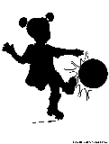 girl playing soccer silhouette