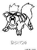 Growlithe Coloring Page