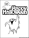 Halloween Spooks Coloring Page