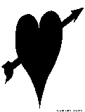 heart arrow silhouette