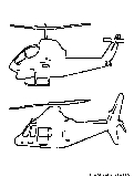 Helicopters Coloring Page