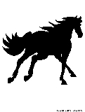 horse canter silhouette