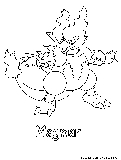 Magmar Coloring Page
