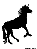 party unicorn silhouette
