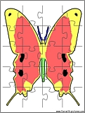 printable butterfly2 jigsaw