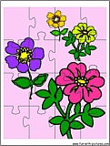 printable flowers2 jigsaw