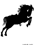 race horse silhouette