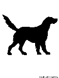 retriever silhouette