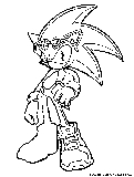 Sonic The Hedgehog Coloring Page