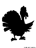 thanksgiving turkey silhouette