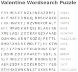 valentine wordsearch puzzle