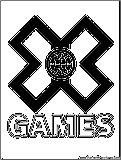 Xgames Coloring Page