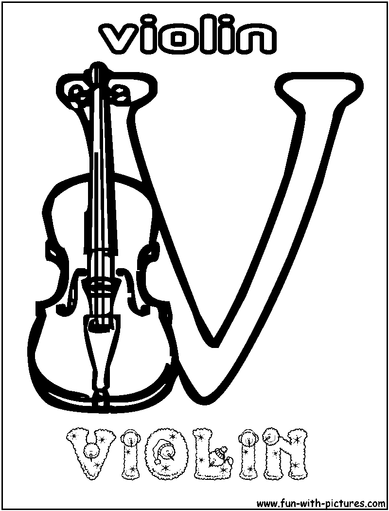 fiddle coloring pages - photo#25