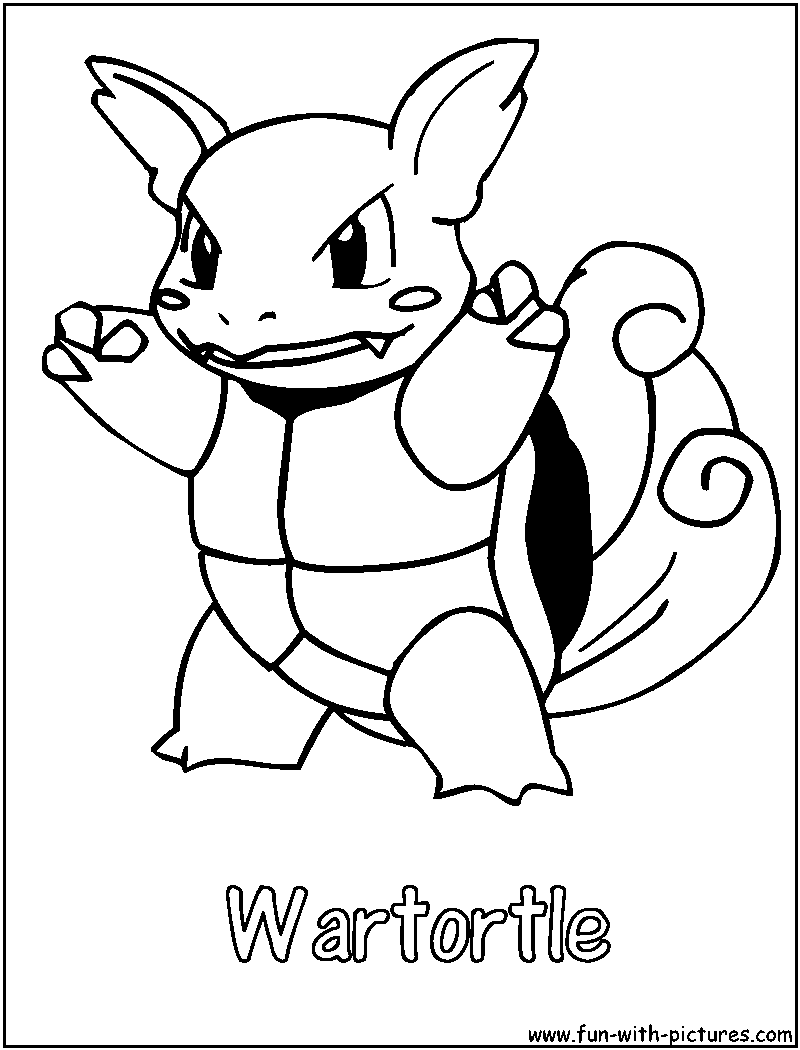 pokemon wartortle coloring pages - photo#6