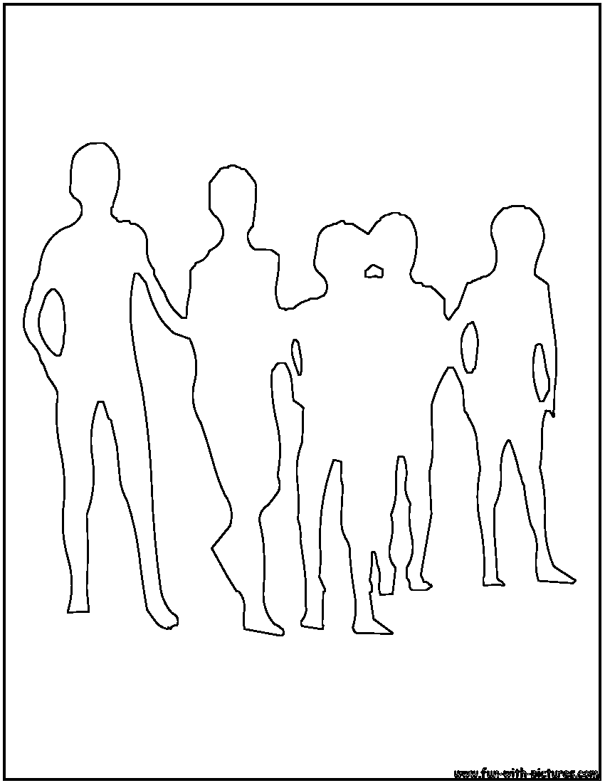 People Outline Coloring Sheet Coloring Pages