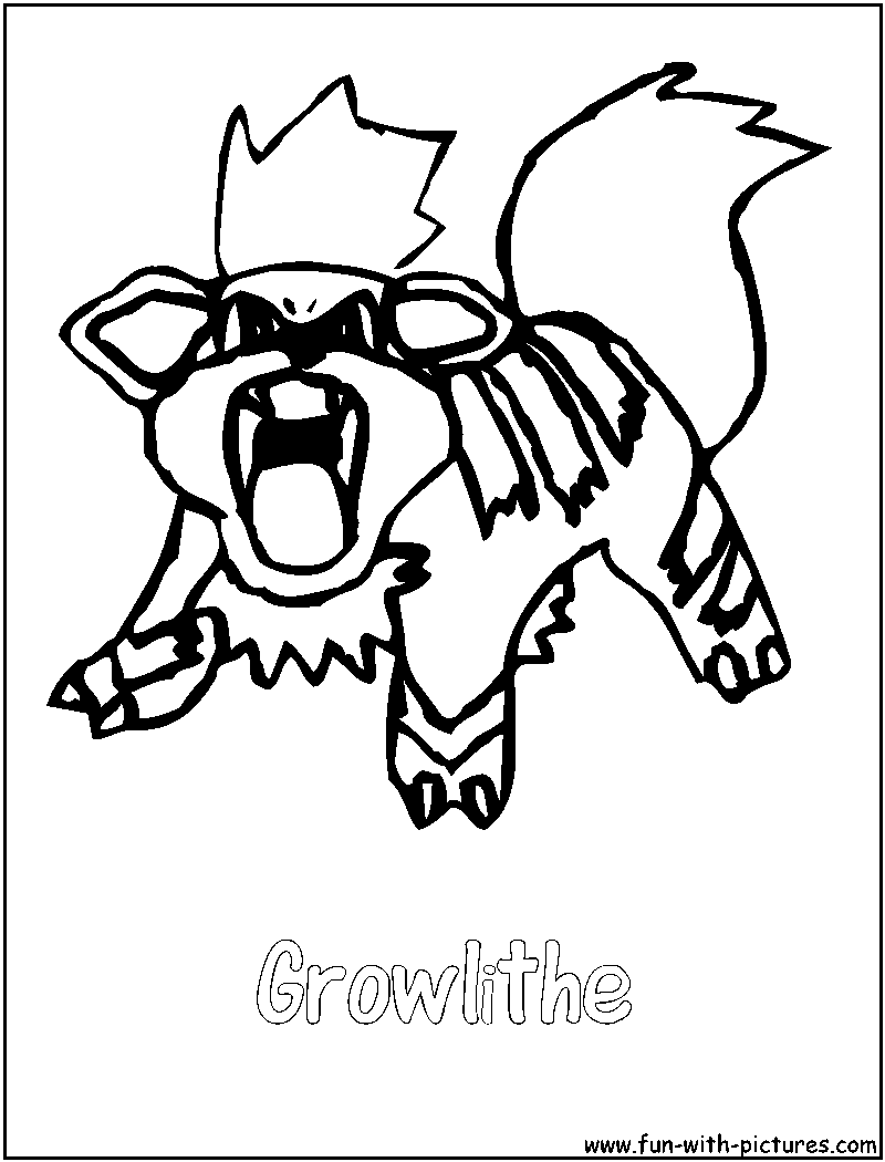 This is a graphic of Mesmerizing Growlithe Coloring Page